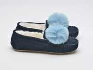 LazyDogz Bessie Navy Slippers