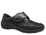 Waldlaufer Black Lightweight Velcro Shoe