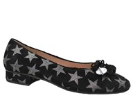 HB Black Suede Star Jest Pump
