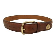 Hicks & Hide Broadway Tip Cognac Belt