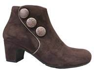Perlato Brown Suede Button Boot