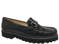 Lisa Kay 'Clarke' Black Patent Loafer