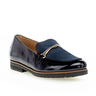 Gabor 'East' Navy Patent Moccasin