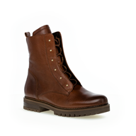 Gabor 'local' studded Conker Chestnut Zip & Lace Ankle Boot