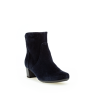 Gabor Navy Suede Ankle Boot