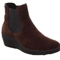 Legero Divine Brown Suede Wedge Ankle Boot