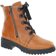 Waldlaufer Luise Cognac Lace Up With Zip Boot