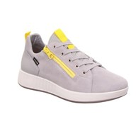 Legero 'Essence' Suede Side Zip Lace Up Grey Trainer