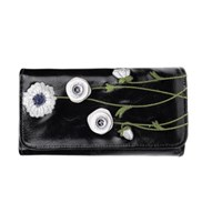 Vendula White Poppy Flap Front Wallet