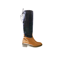 HB Navy & Tan Tall Boot