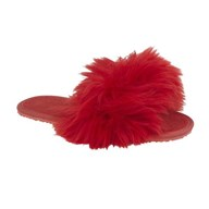 Drapers 'Flip Flop' Red'Fluffy'Slipper