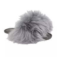 Drapers 'Flip Flop' Grey Fluffy Slipper