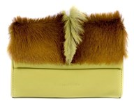 Mini Springbok Handbag In Citrus Green With A Fan