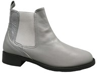 HB Grey Leather Lightweight Autumn Chelsea Boot