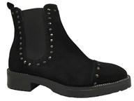 Lisa Kay 'Kara' Black Suede Stud Boot