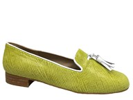 HB Clover Lime Loafer With White Trim