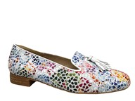 HB Clover Multi Colour Loafer With White Trim