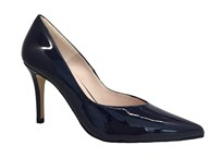 HB Navy Patent High Heel Court Shoe