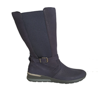 Waldlaufer 'Clara' Mid Calf Boot In Navy