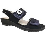 Waldlaufer Navy Shimmer Velcro Sandal