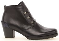 Gabor 'Olsen' Black Leather Ankle Boot