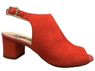 HB Orange Suede High Vamp Heeled Sandal