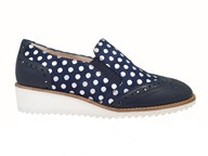Hb Navy Spot Loafer With A Lightweight Sole