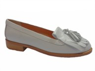 HB White Leather Loafer