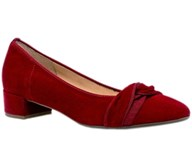 Gabor 'Prince' Red Suede Low Court
