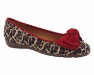 Gabor 'Redshank' Leopard Print With Red Bow