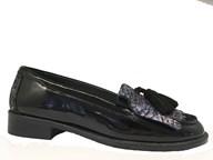 HB Black & Purple Patent Heritage Loafer