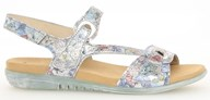 Gabor 'Radar' Blue & Floral Leather Sandal