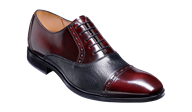 Barker Ramsgate Oxford In Burgundy & Black Leather