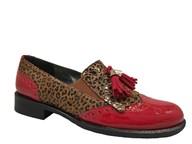 HB Red & Leopard Print Loafer