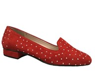 HB Chic Red Suede Loafer With Studs
