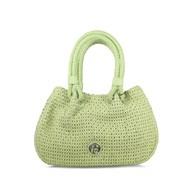 Lisa Kay Ripple Lime Weave Leather Bag