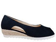 Gabor 'Roseford' Navy Suede Low Wedge