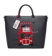 Vendula Cats London Bus Carry All Tote in Grey