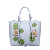 Water Lily Scallop Tote Bag