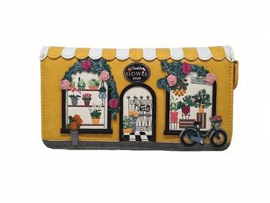 Vendula Flower Shop Large Ziparound Wallet
