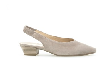 .Gabor 'Heathcliff' Nude/Stone Suede Sling Back