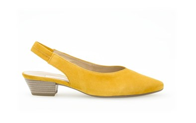 Gabor 'Heathcliff' Mustard Low Sling Back
