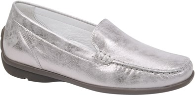 Waldlaufer Silver Leather Loafer