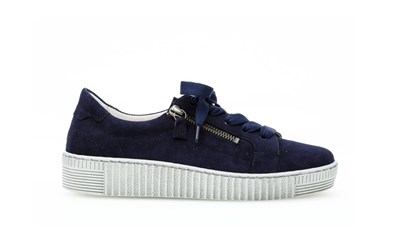 Gabor Dusty blue Wisdom trainer in suede