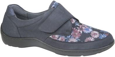 Waldlaufer Navy & Floral Velcro Trainer