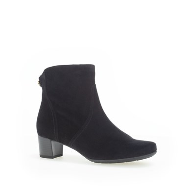 Gabor Black Suede Ankle Boot