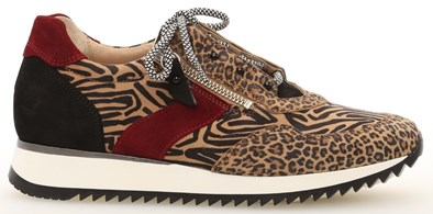 Gabor 'Cara' Zebra Print Lace Up and Side Zip Trainer