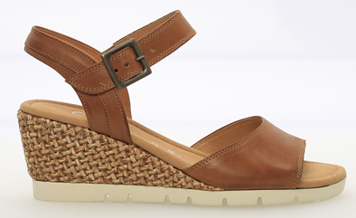 Gabor 'Nieve' Tan Leather Wedge Sandal