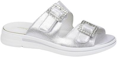 Waldlaufer Silver Sparkle Slip-On Sandal
