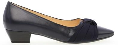 Gabor 'Fifi' Navy Blue Low Heel Court Shoe